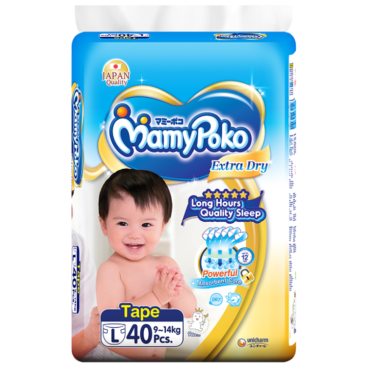 MamyPoko Tape Extra Dry Skin / Size L